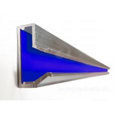 Вставка в Т-паз, алюминиевая с цветным вкладышем, L= 690мм